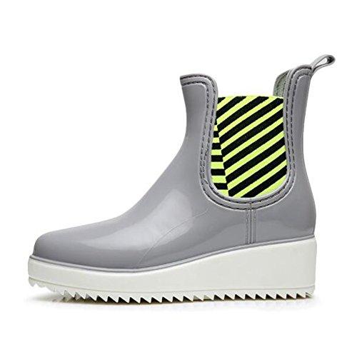 fereshte , Damen Chelsea Boots Grau / Weiß