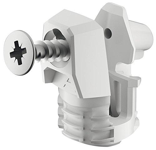 Gedotec Rückwand-Verbinder für Holz-Stärke ab 15 mm Möbelverbinder Ixconnect RPC S 15/25 | Korpus-Verbinder zum Einstecken in die Nut | Länge: 20 mm | 10 Stück - Schrankverbinder Kunststoff weiß