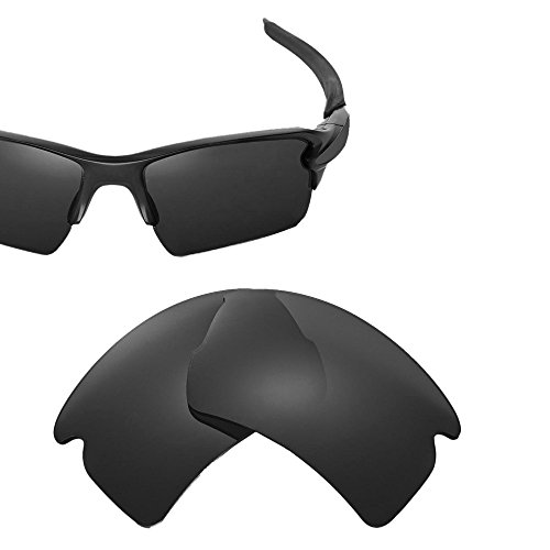 Cofery Ersatzgläser für Oakley Flak 2.0 XL Sonnenbrille - Verschiedene Optionen erhältlich, Unisex, Black - Polarized, Einheitsgröße