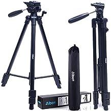 "Albott Camera Tripod 64"" 163cm Aluminum Lightweight Travel Portable Tripod with 3-Way Head"