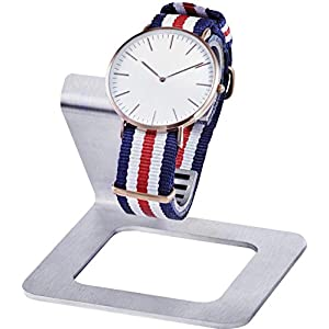 INDULOU Uhrenhalter aus hochwertigem Edelstahl und Leder. Bringt Ihre Uhr adäquat zur Geltung. Made IN Germany