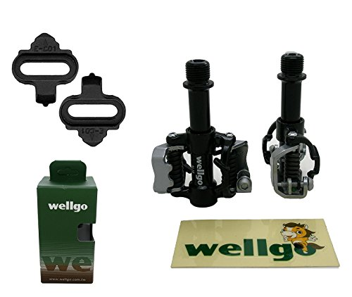 Pedali Automaticos SPD Wellgo WAM M18 Bici MTB E Strada Spessori 3614