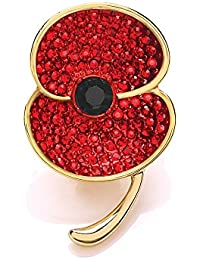 The Royal British Legion The Poppy Collection Medium Brooch Gold Tone