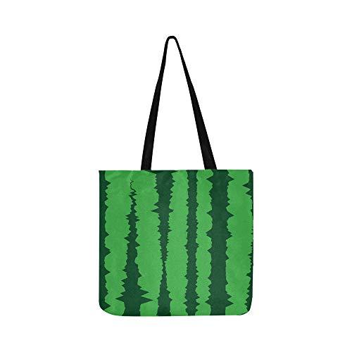 Wassermelone Haut Swatch Unregelmäßigen Streifen Leinwand Tote Handtasche Umhängetasche Crossbody Taschen Geldbörsen Für Männer Und Frauen Einkaufstasche