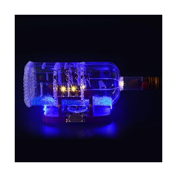 LIGHTAILING Set di Luci per (Nave in Bottiglia) Modello da Costruire - Kit Luce LED Compatibile con Lego 21313 (Non… 5 spesavip