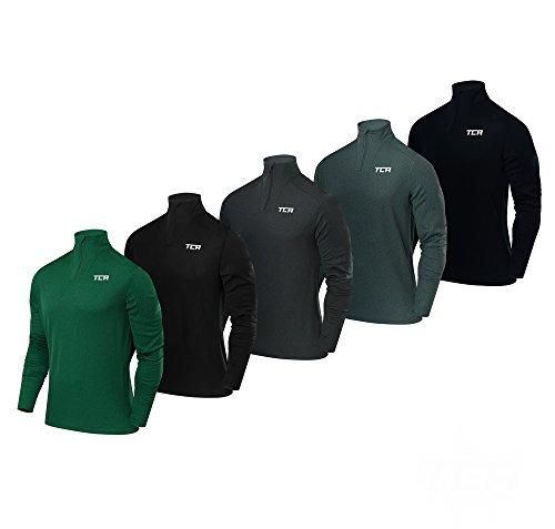 TCA Men's Cloud Fleece 1/4 Zip Thermal Running Top with Zip Pocket