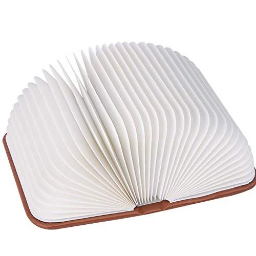 360°Faltbar Große LED Buch Lampe In Buch Form Holzbuch 6 Farbmodi Tischleuchte Nachttischlampe Dekorative