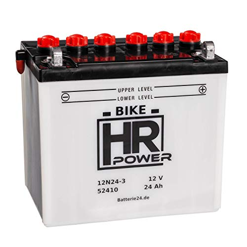 HR Bike Power Rasentraktor 12V 24Ah 12N24-3 52410 wartungsfrei