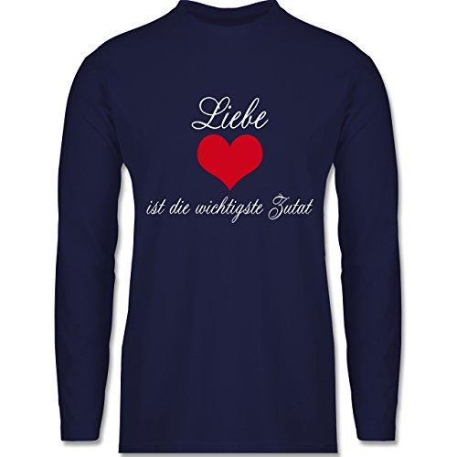 Küche - Liebe ist die wichtigste Zutat - Longsleeve / langärmeliges T-Shirt für Herren Navy Blau