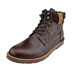 Delize Men 26471-Brown Leather Boots 8 UK
