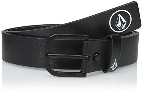 Volcom Herren Clone Belt Schwarz Gürtel, Black, 38 (Street Leder Hose)