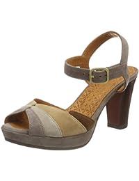 Top Sandali Scarpe da donna 0566 Plateau Nero 40