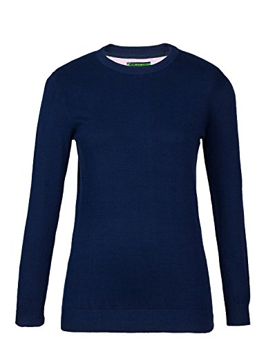 Jeff Green Damen Pima Cotton Rundhals Pullover Paula, Größe - Damen:46, Farbe:Jeans (Pima-baumwolle Pullover)