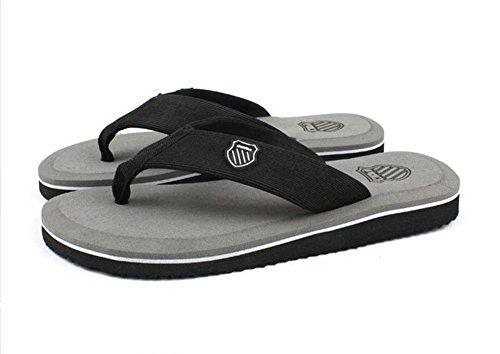 Minetom Herren Mode Zehentrenner Flats Flip Flops Sommer Strand Pantoffeln Badeschuhe Grau