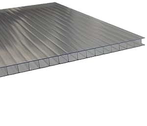 stegplatten 10mm f r gew chshaus uv klar 1 lfm breite 525 695mm incl zuschnitt garten. Black Bedroom Furniture Sets. Home Design Ideas