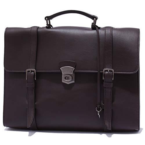 Dolce&Gabbana Aktentasche Tasche Dokumententasche Laptoptasche Leder Braun