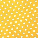 0,5m Stoff Herzen gelb-weiß 100% Baumwolle Meterware Herz