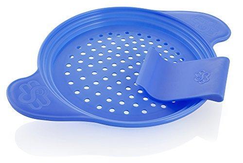 Muxel Spätzlewunder die Alternative für Spätzlebrett, Hobel Spätzlepresse mit Schaber, blau