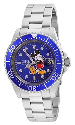 Invicta 24758 Disney Limited Edition Mickey Mouse Reloj Unisex acero inoxidable Automático Esfera azul