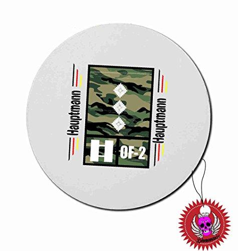 """Mousepad Rund 3mm mit Aufdruck Spruch """" Hauptmann OF-2 ARMY Airforce Heer Luftwaffe … """" Bedrucktes Kissen Dekokissen Kuschelkissen Dienstgradabzeichen der Bundeswehr Heer Luftwaffe Marine"""