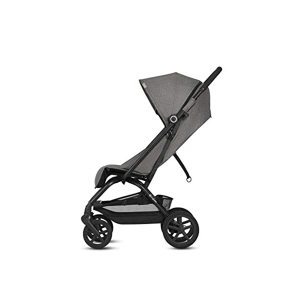 CYBEX Gold Eezy S+, Compact Pushchair, One-hand folding mechanism, Lightweight, From birth to 17 kg (about 4 years), Denim Blue Cybex Sturdy, High-quality Compact Pushchair for newborns up to approx. 17 kg (approx. 4 years) with one-hand folding mechanism and infinitely adjustable backrest - Including raincover for optimum use in all weather conditions Optimum comfort for parent and child: Light and easy to manoeuvre around the city thanks to large all-terrain wheels with all-wheel suspension, Comfortable sitting position thanks to infinitely adjustable backrest with lie-flat position Simple one-hand folding mechanism for travel-friendly size - LxWxH: 29 x 45 x 59 cm, 2-in-1 travel system compatibility with separately available CYBEX and gb baby car seats 3