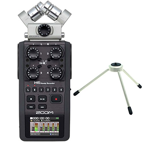 Zoom H6 Handy Recorder + TPS di 3 treppiedi