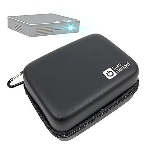 Etui coque rigide de protection pour vidéoprojecteur Crenova XPE 700 DLP Pico Projecteur et ASUS ZenBeam E1 LED + mousqueton BONUS, par DURAGADGET