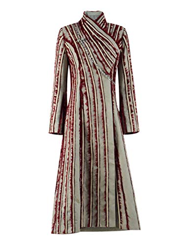 e Daenerys Kostüm Damen Halloween Cosplay Mantel Kostüm Outfit (Rot, L) ()