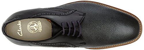 Clarks Penton Walk, Derbies à lacets homme Noir (Black Leather)