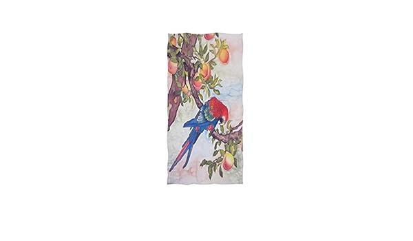 Perroquet Bleu avec p/êches Essuie-Mains Doux Grandes Serviettes tr/ès absorbantes 15 x 30 Pouces Serviettes pour Les Doigts Serviette de Bain Serviette de Bain Tout Usage