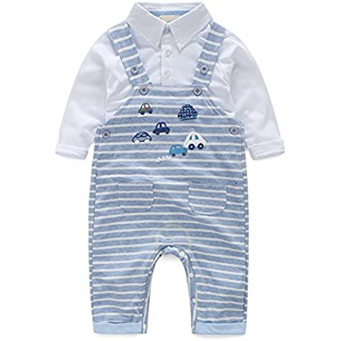 Yizhi Baby Boys Handsome Cotton T-shirt and Bib Overall Short Toddler Outfit 2-Pcs set