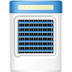 Theshy Climatisation Individuelle,Nouvelle Recharge S9 Portable Portable Ventilateur Climatisation RéFrigéRateur Accueil Us éConomie D'éNergie, Protection De L'Environnement (bleu)