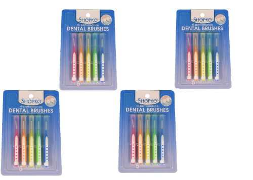 set-of-20-shopko-dental-brushes-assorted-colors-dentist-tool-cleanhealthy-gums-by-shopko