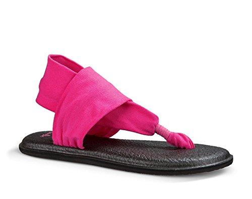 Sanuk Damen Yoga Sling#2 Prints Zehentrenner Hot Pink
