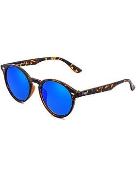 Gafas de sol TWIG POLLOCK redondo espejo hombre/mujer (Tortuga/Azul)