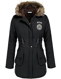a7928522b5981f Befied Damen Wintermantel Winterparka Fellkapuze Jacken Mit Kapuze Winter  Jacke Parka Warmen Outwear
