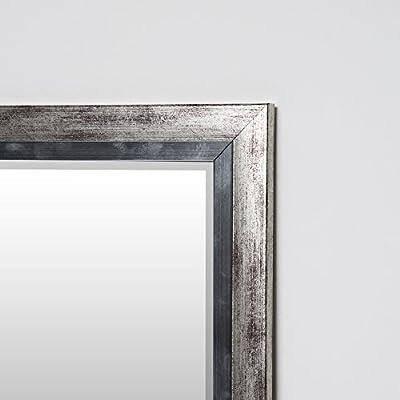 Wandspiegel Silber 130 x 50 cm mit elegantem und schlichtem Rahmen Spiegel mit Facettenschliff neu