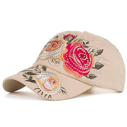 Funny hat Printemps Automne Unisexe Loisirs Simplicité Coton réglable Broderie Baseball/Casual Sport Outdoor Snapback Casquette avec Broderie de Fleur