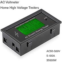 AC tension numérique Mètres d'AC50-320V 100A 3K KW Accueil haute tension testeurs Témoin d'alimentation d'énergie Voltmètre Ampèremètre ampères de courant Volt wattmètre Détecteur testeur