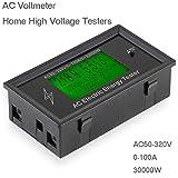 Misuratori di tensione digitali AC AC50-320V 100A 3K KW Home Tester di alta tensione Indicatore Potenza Energia Voltmetro Amperometro Amperometri Volt Watt Meter Tester Detector