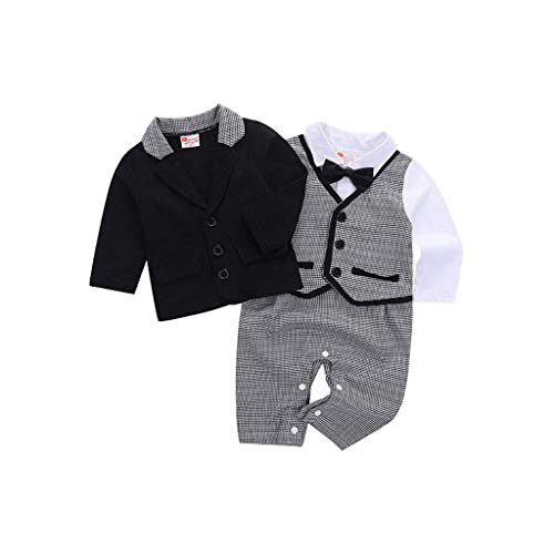 Ensembles de Bébé ❤️Robemon Toddler Bébé Garçon Bowtie Monsieur Style Coat T-Shirt Pantalons Wedding Suit Cloth