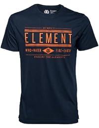 Element Young Blood T-shirt à manches courtes pour homme Bleu Noir
