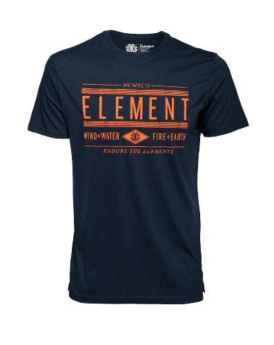Element-Young-Blood-T-shirt--manches-courtes-pour-homme-Bleu-Noir