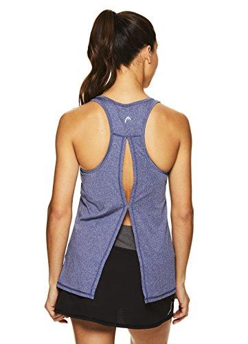 HEAD Damen Perfect Match Racerback Tank Top ärmellos Performance Activewear Shirt - Blau - Klein -