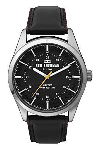 Ben Sherman Hommes Analogique Quartz Montre avec Bracelet en Cuir WB027B