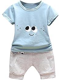 1392a1293 Logobeing 2PC Conjunto Ropa Bebe Recien Nacido Verano 0-24 Meses Niños Ojos  de Dibujos Animados Camisetas…