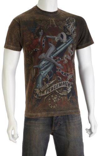 Alchemy England - UL13 T-Shirt uomo, Nero (Schwarz - Schwarz), Medium