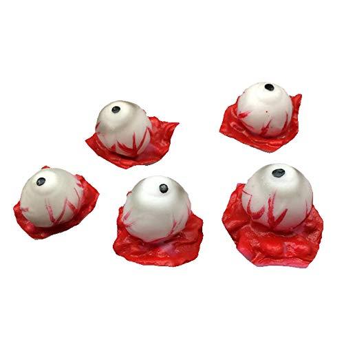 TianranRT Halloween Requisiten,Requisiten Dekorationen 5 Stück Simuliert Halloween Ghost Props Augäpfel,Mehrfarbig