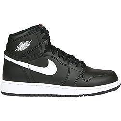 Nike Air Jordan 1 Retro High OG bg, Zapatillas de Baloncesto para Hombre, Negro White-Black-University Red, 39 EU