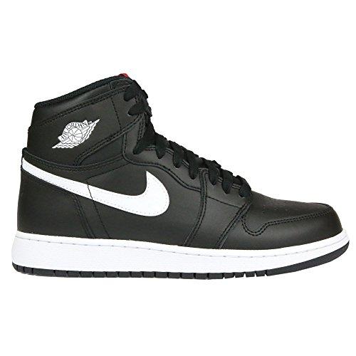 Nike Herren Air Jordan 1 Retro high og bg Basketballschuhe, Black weiß-schwarz-Uni-Netz, 39 EU (Jordans Schuhe Herren Größe 16)